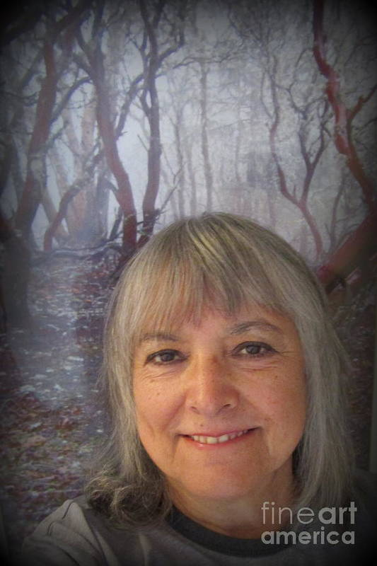 Marie Art Print featuring the photograph Marie With Cathedral Hills Behind Me by Marie Neder