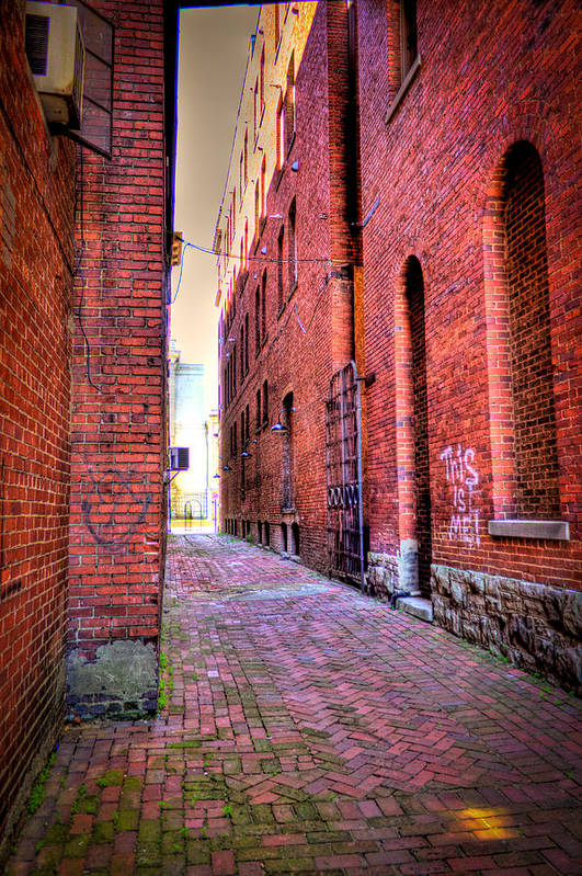 Marietta Art Print featuring the photograph Marietta Alley by Jonny D