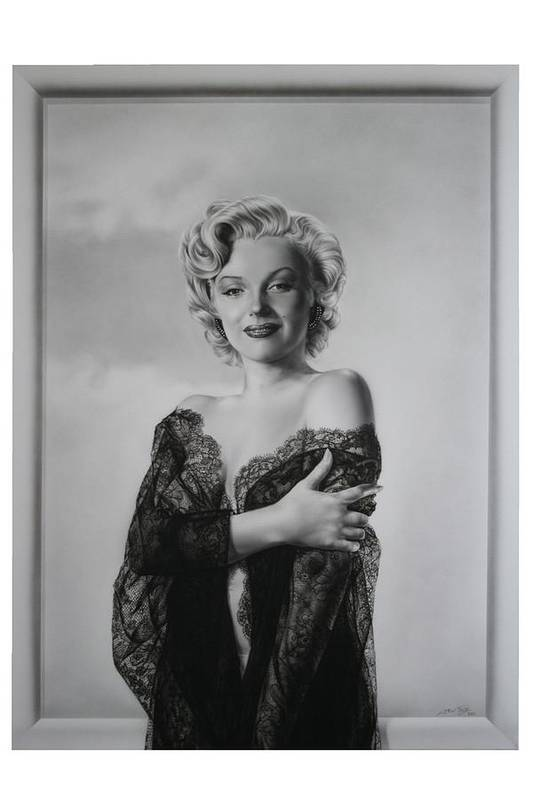 Marilyn Art Print featuring the painting Marilyn In Lace by Terry Stephens