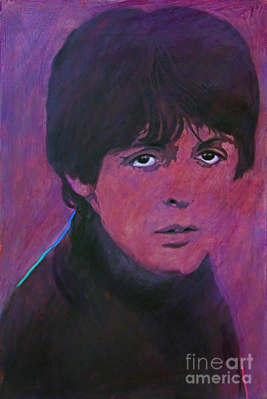 Paul Mccartney Art Print featuring the painting Mccartney by David Lloyd Glover