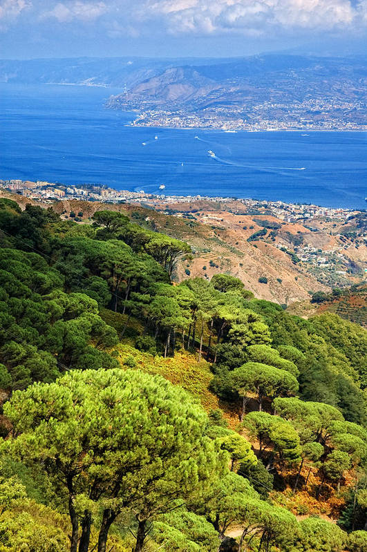 Italy Art Print featuring the photograph Messina Strait - Italy by Silvia Ganora