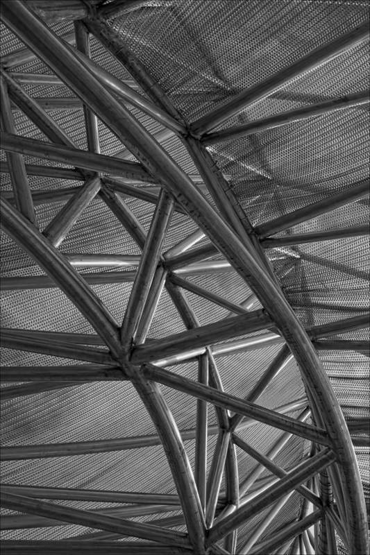 Metal Abstraction Art Print featuring the photograph Metal Structure by Robert Ullmann