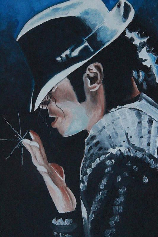 Michael Jackson Portrait Art Print featuring the painting Michael Jackson by Mikayla Ziegler