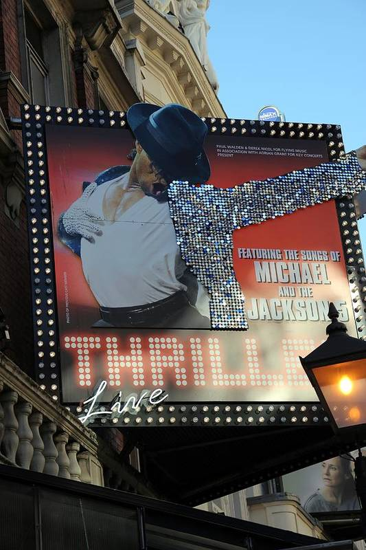 Michael Jackson Art Print featuring the photograph Michael Jackson Musical by Sophie Vigneault