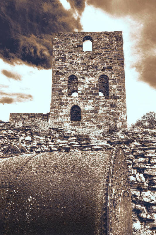 Mine Art Print featuring the photograph Mine Ruins by Wayne Sherriff