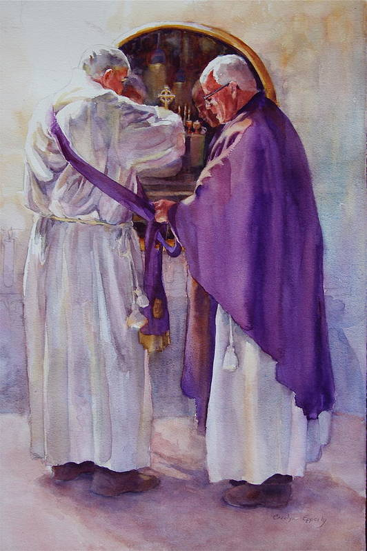 Figure Art Print featuring the painting Mirroring Faith by Carolyn Epperly