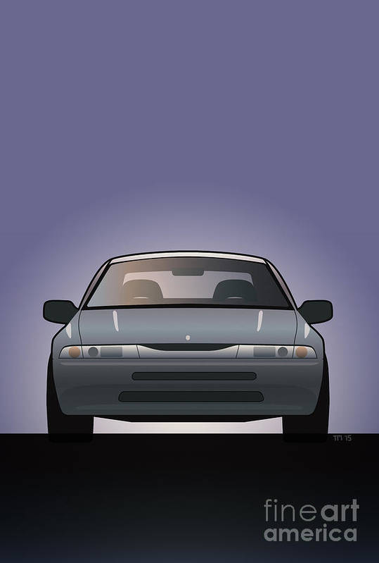 Car Art Print featuring the digital art Modern Japanese Icons Subaru Alcyone Svx by Monkey Crisis On Mars