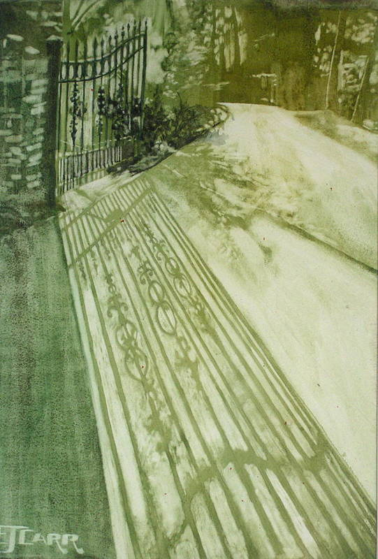 Green Print featuring the painting Morning Light by Elizabeth Carr