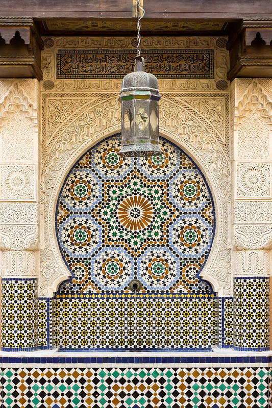 Africa Art Print featuring the photograph Moroccan Fountain by Tom Gowanlock