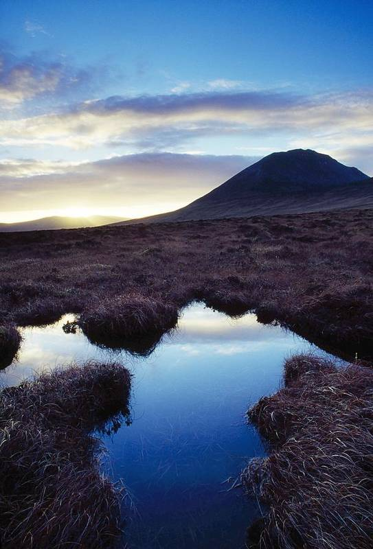 County Donegal Print featuring the photograph Mount Errigal, County Donegal, Ireland by Gareth McCormack