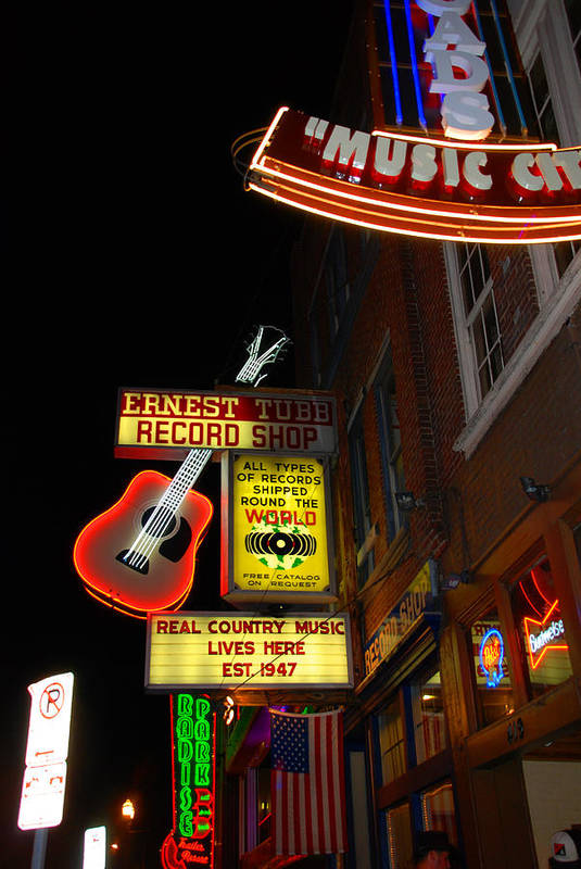 Nashville Print featuring the photograph Music City Nashville by Susanne Van Hulst