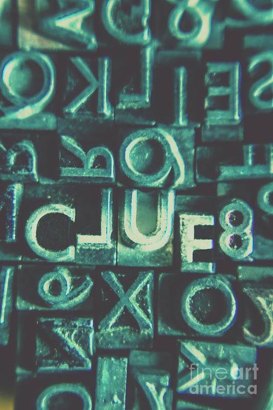 Clue Art Print featuring the photograph Mystery Writer Clue by Jorgo Photography - Wall Art Gallery