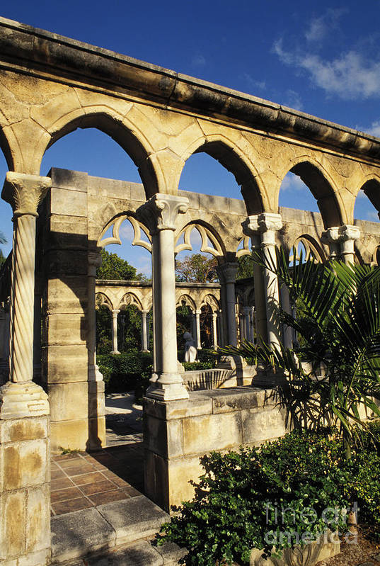 Afternoon Art Print featuring the photograph Nassau Cloisters by Bill Bachmann - Printscapes