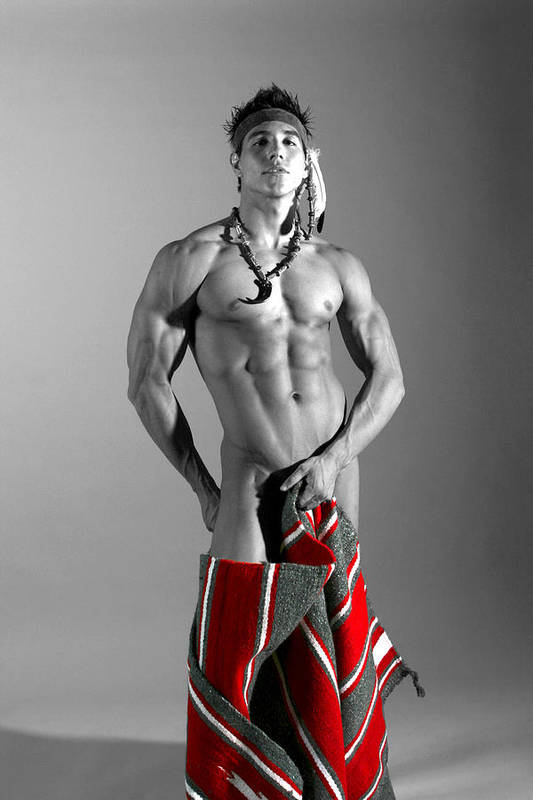 Male Art Print featuring the photograph Native American IIi by Dan Nelson