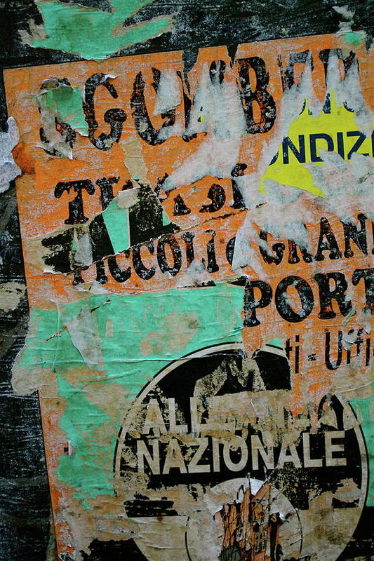 Sign Art Print featuring the photograph Nazionale by Jason Wolters