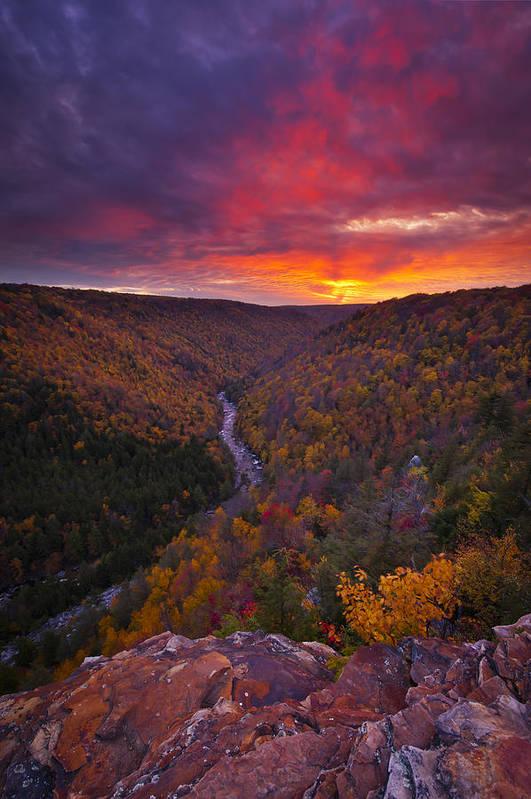 West Virginia Art Print featuring the photograph Neverending Autumn by Joseph Rossbach