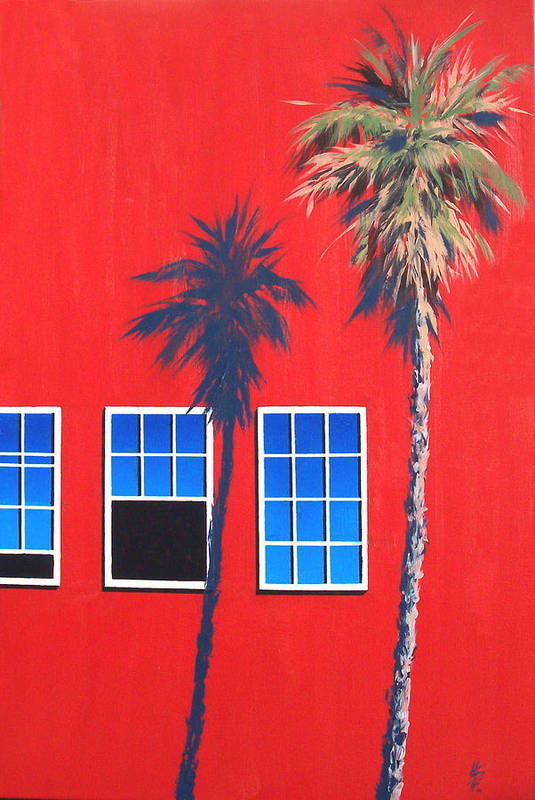 Palm Tree Art Print featuring the painting Newport Afternoon by Philip Fleischer