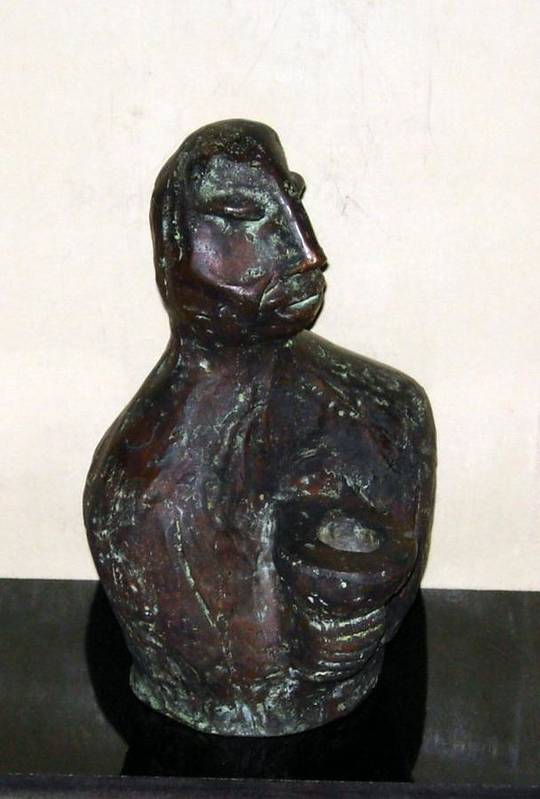 Male Torso Art Print featuring the sculpture No. 245 by Vijayan Kannampilly