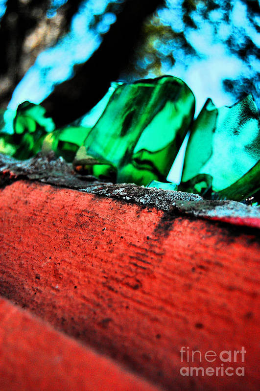 Glass Art Print featuring the photograph Nola Security1 by Jessa DeNuit