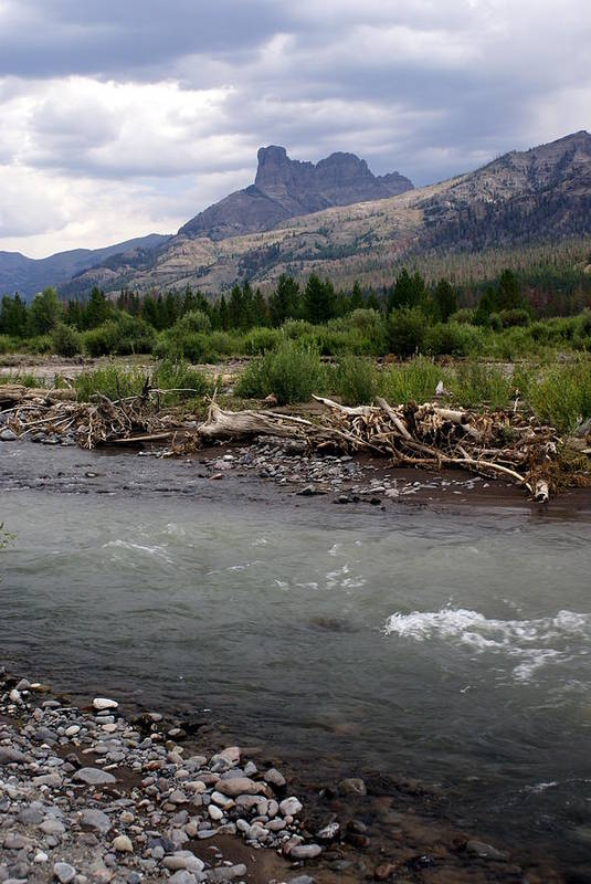 Rivers Art Print featuring the photograph North Of Dubois Wy by Marty Koch