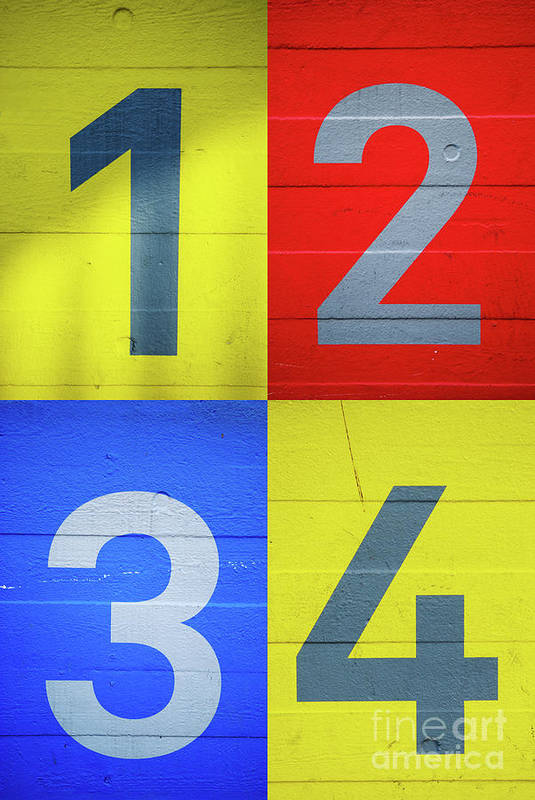 Yellow Art Print featuring the photograph Numbers by Benjamin Harte