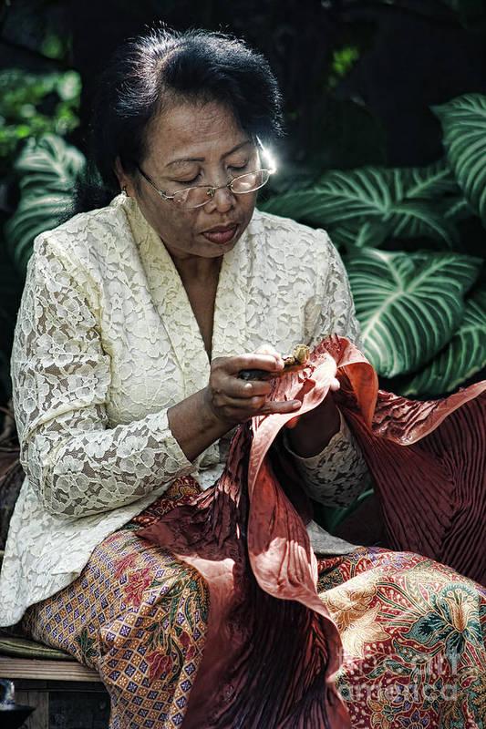 Batik Art Print featuring the photograph Nyanting by Arie Toursino