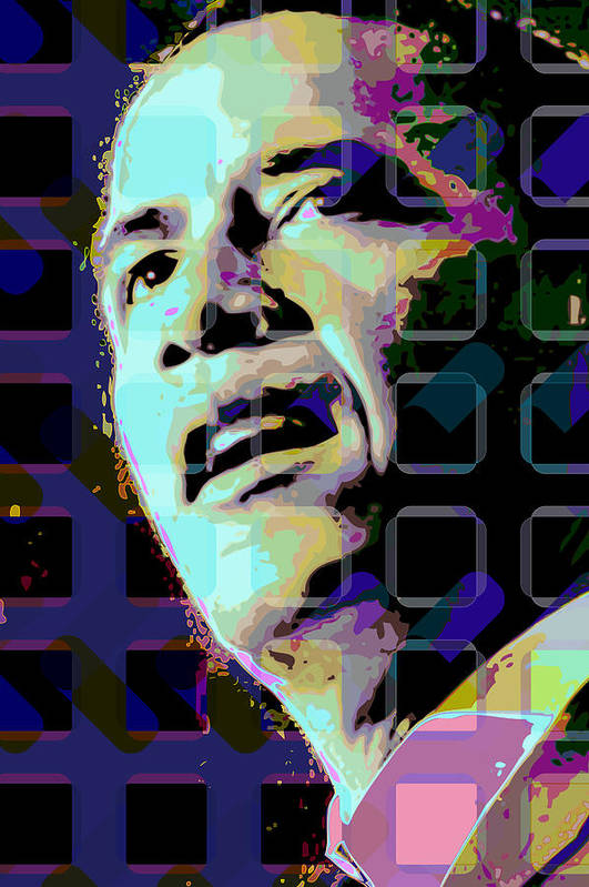 Obama Art Print featuring the digital art Obama2 by Scott Davis