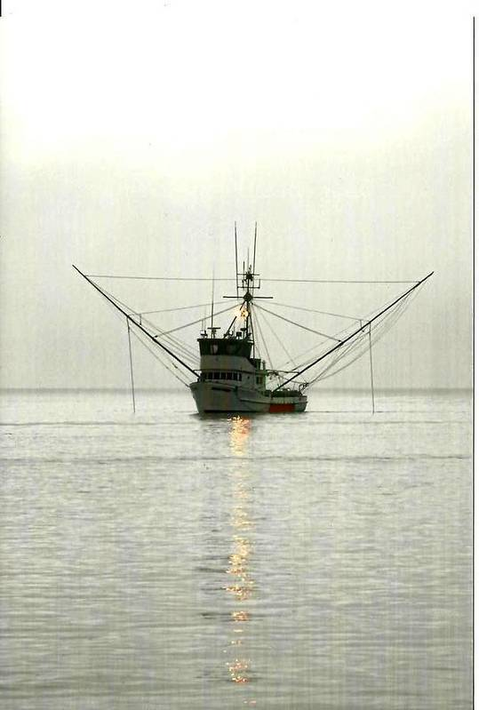 Boat Art Print featuring the photograph Ocean Fishing Boat by Alice Eckmann