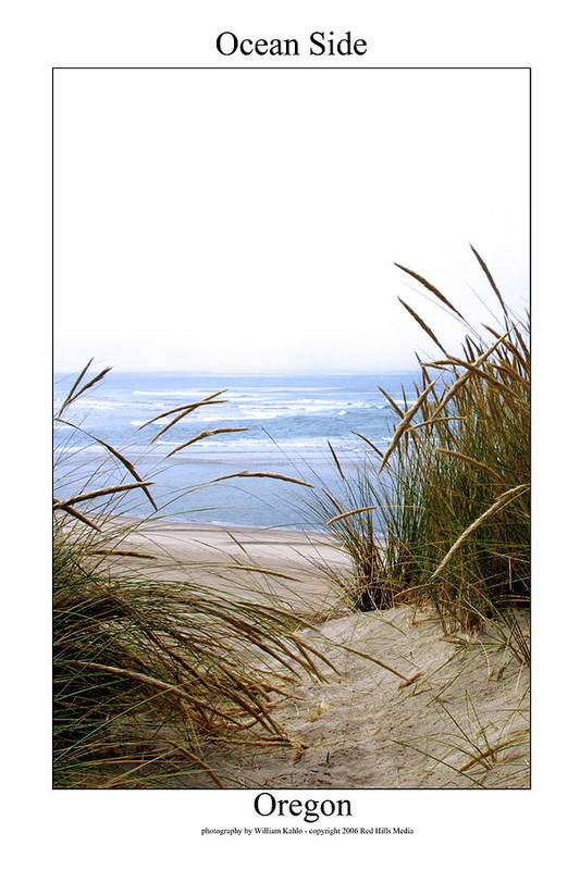 Oregon Coast Photographs Art Print featuring the photograph Ocean Side by William Jones