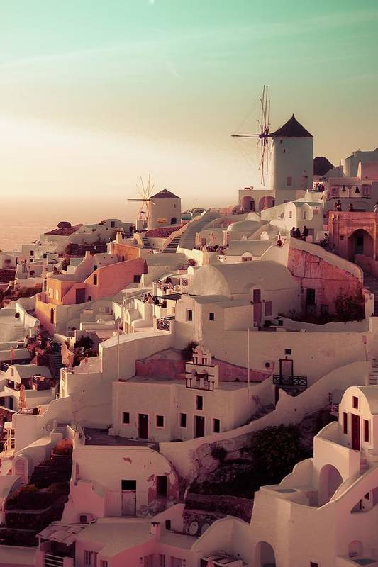 Sunset Art Print featuring the photograph Oia Sunset by Debra Cox