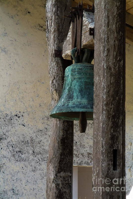 Aquitane Art Print featuring the photograph Old Bronze Bell by Sami Sarkis