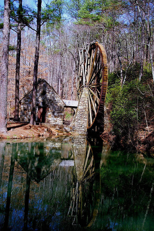 History Art Print featuring the photograph Old Mill At Berry College by Johann Todesengel