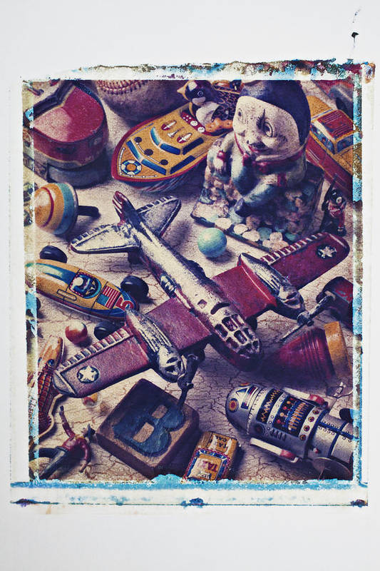 Toy Art Print featuring the photograph Old Plane And Other Toys by Garry Gay