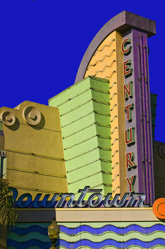 Therater Art Print featuring the photograph Old Ventura Theater by Lynn Andrews