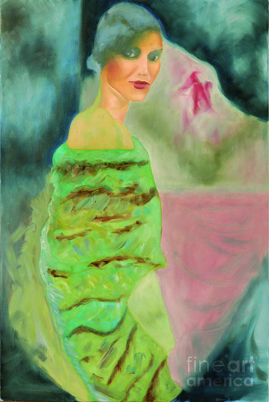 Art Print featuring the painting Ombragee by Krzis-Lorent Frederique