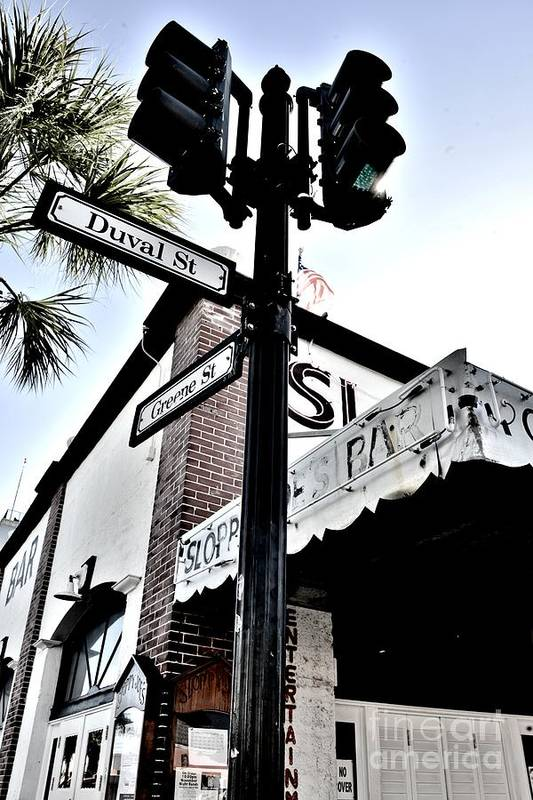 On The Corner Art Print featuring the photograph On The Corner by Lisa Renee Ludlum