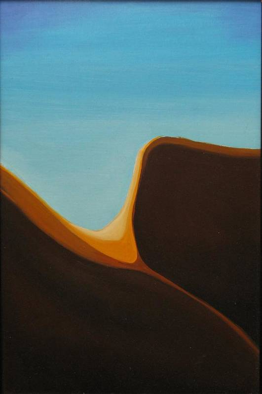 Landscape Art Print featuring the painting Open by David McKee