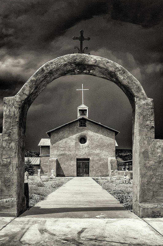 Church Art Print featuring the photograph Our Lady Of Guadalupe by Lou Novick