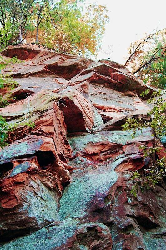 Sandstone Art Print featuring the photograph Outcrop At Wildcat Den by Jame Hayes