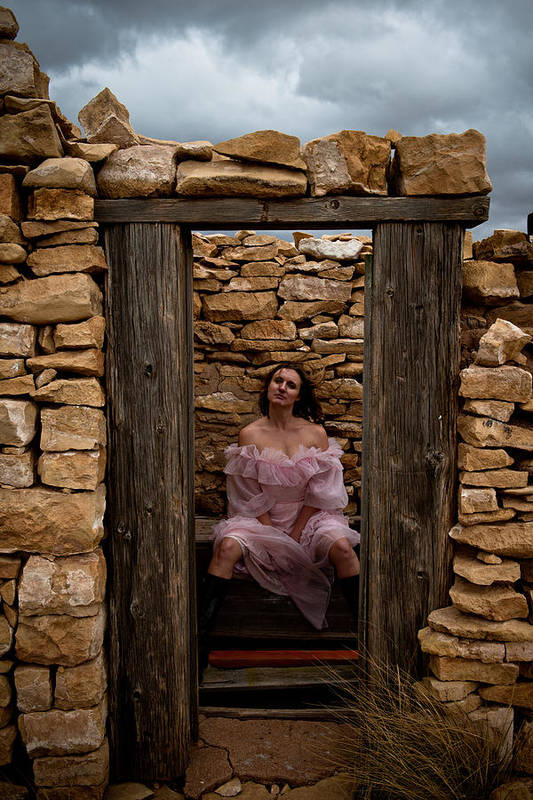 Woman Art Print featuring the photograph Outdoor Outhouse by Scott Sawyer