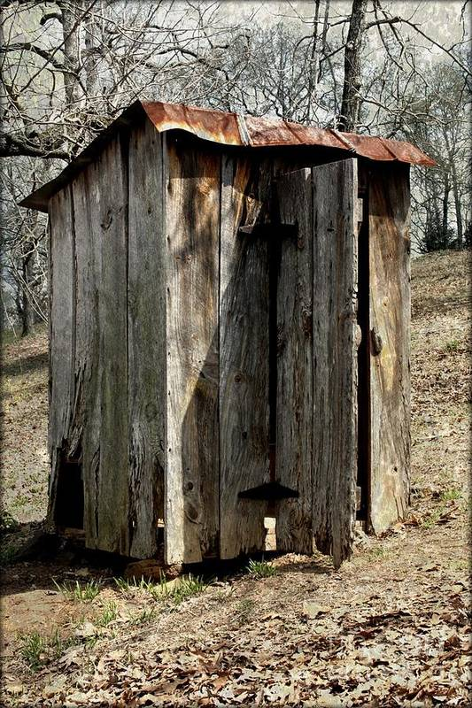 Outdoor Print featuring the photograph Outhouse by Gayle Johnson