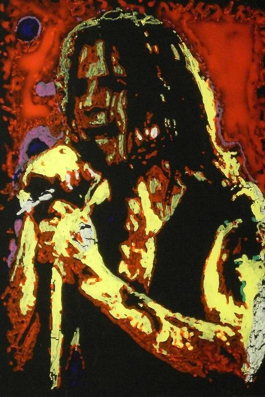 Ozzy Osbourne Art Print featuring the painting Ozzy Osbourne by Grant Van Driest