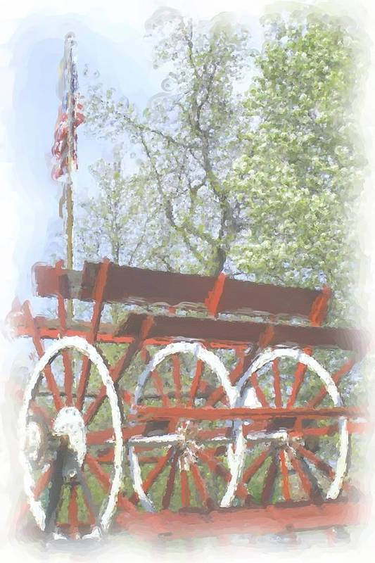 Paddlewheel Art Print featuring the painting Paddlewheel by Janet Pugh