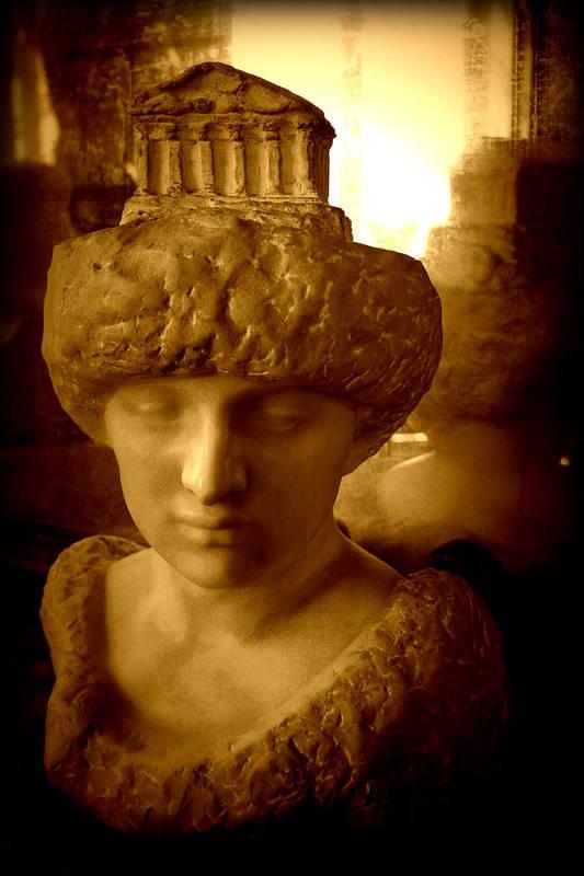 Sculpture Art Print featuring the photograph Pallas Au Parthenon by Susie Weaver