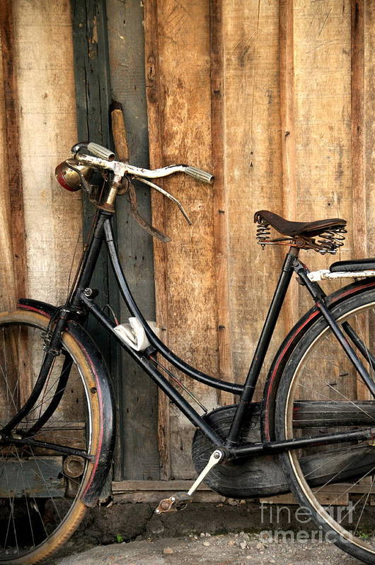 Bi-cycle Art Print featuring the photograph Parked by Charuhas Images