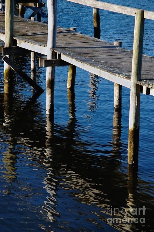 Pier Art Print featuring the photograph Pier Reflection by Hideaki Sakurai