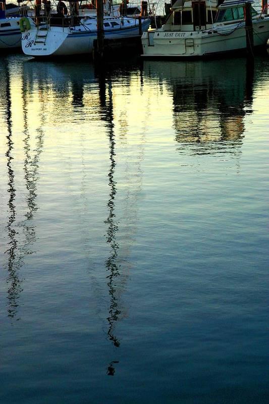 William Meemken Art Print featuring the photograph Pier Reflections by William Meemken
