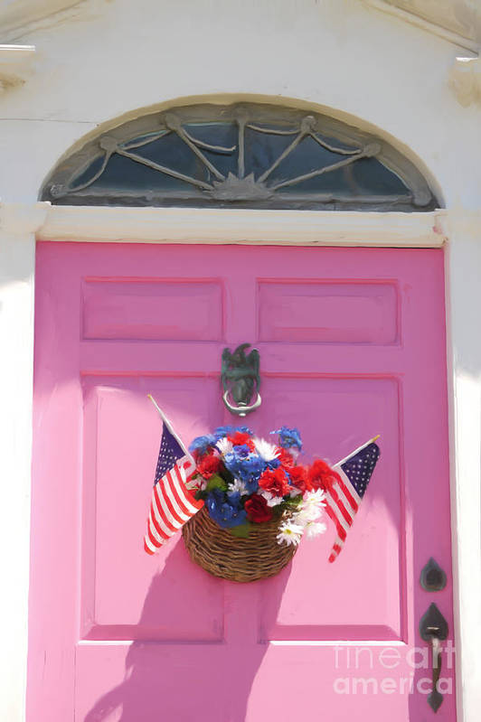 Susan Lipschutz Art Print featuring the digital art Pink Door by Susan Lipschutz