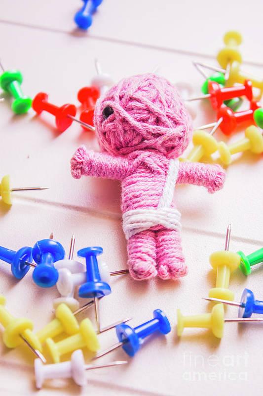 Pins And Needles Mummy Voodoo Doll Art Print