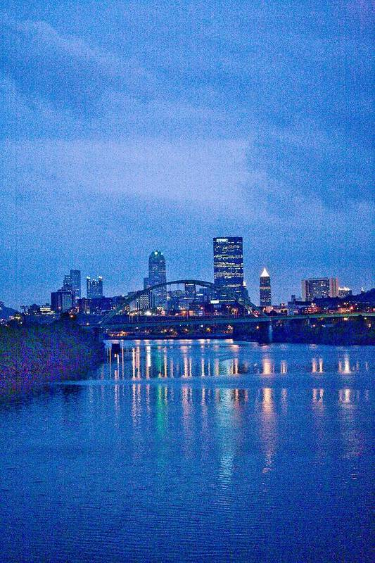 Pittsburgh Art Print featuring the photograph Pittsburgh In Blue by John Toxey